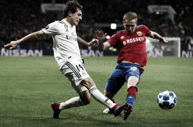 Odriozola en el partido de ida contra el CSKA de Moscú I Foto: Real Madrid