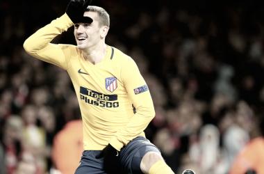 Griezmann anotó el 1-1 en el Emirates    FOTO: Club Atlético de Madrid.