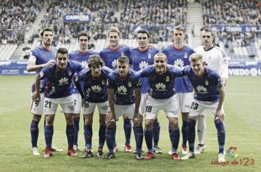 Último once en casa del Real Oviedo. Fotografía: La Liga 123