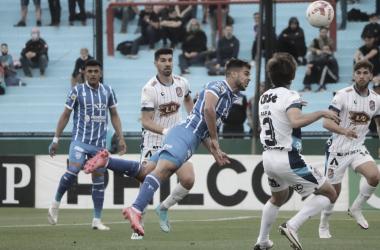 Martín Ojeda tuvo chances de abrir el marcador contra Arsenal. Foto: Prensa Godoy Cruz.