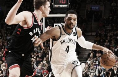 Jahlil Okafor frente a los Toronto Raptors. Fuente: NBA.com