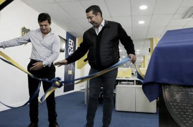 Gribaudo y Angelici, en la inauguración | Foto: Olé