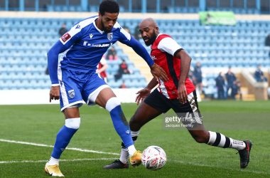 Vadaine Oliver netted his 20th goal of the season on Sunday to earn Gillingham the win | Photo by Jacques Feeney - Getty Images
