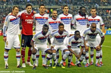 El equipo del Olympique Lyonnais retratado en la fotografía // Fuente: Lyon