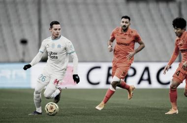 Olympique de Marseille marca dois no fim e garante vitória contra Montpellier