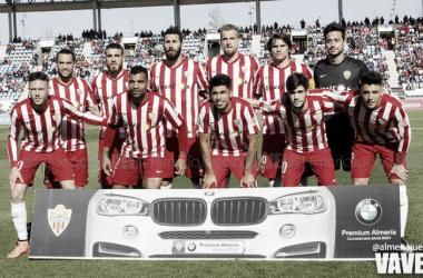 Once inicial de la UD Almería ante el Alcorcoón | FOTO: Almería Juega, VAVEL.com