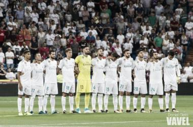 Once alineado en otro partido para los menos habituales, en el Trofeo Santiago Bernabéu I Foto: Daniel Nieto (VAVEL)