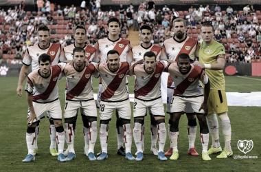 Primer once de la temporada 2019 - 2020 frente al Mirandés. / Fotografía: Rayo Vallecano.