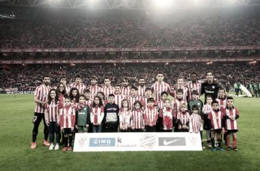 Once del Athletic contra el Málaga en San Mamés. Foto: Athletic Club de Bilbao