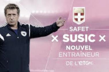 Safet Susic, nouvel entraîneur d'Evian Thonon Gaillard !Source image : site officiel de l'ETG