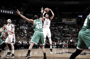 Otto Porter, 19 punti contro i Celtics in gara-3.© 2017 Monumental Sports Entertainment