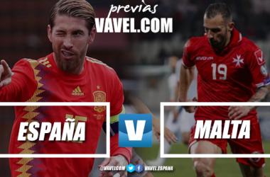 España celebra un gol contra Malta en la jornada 2 de clasificación para la Eurocopa 2020. Foto: AP