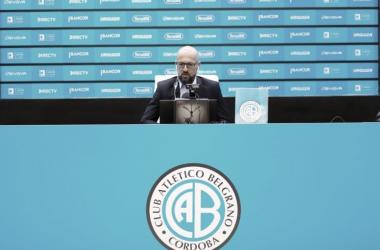 """Orfila: """"El equipo ha jugado uno de sus mejores partidos. Es la filosofía de juego que pretendemos"""" Fuente: (Prensa Belgrano)"""
