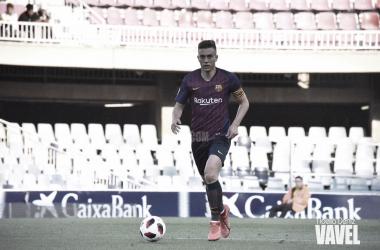 El centrocampista azulgrana ejerció de capitán ante el Atlético Levante / Foto: Noelia Déniz (VAVEL.com)