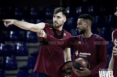 Pierre Oriola y Higgins durante un entrenamiento / Foto: Noelia Déniz