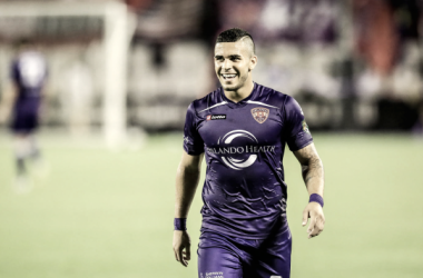 Dom Dwyer playing with Orlando while on loan in 2013 | Source: Joshua C. Cruey - Orlando Sentinel