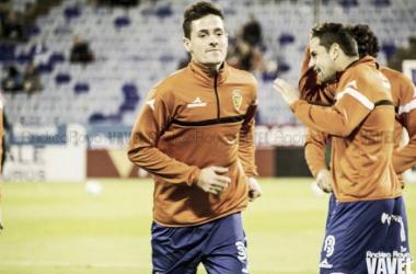 Ortí en un encuentro con el Real Zaragoza. | Foto: Andrea Royo (VAVEL.com).