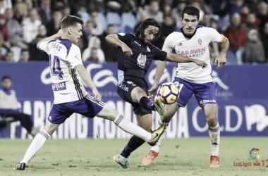 Ortiz frente al Real Zaragoza // Fuente: LFP