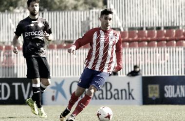 El Atleti da un paso adelante gracias al tanto de Jorge Ortiz frente al Sanse. | FOTO: Atlético de Madrid