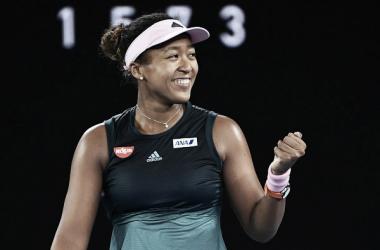 Osaka celebra un punto. Foto: Australian Open.