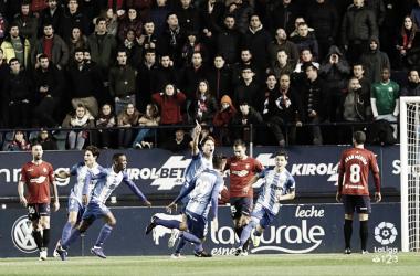 Gol de Pau Torres en la primera vuelta en el partido OSasuna -Málaga temporada 18/19 | Foto: LaLiga