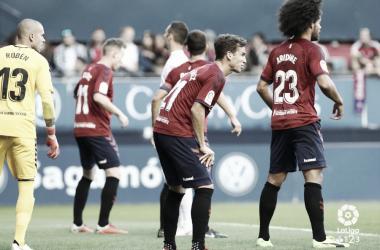 Partido de la ida entre Osasuna y Numancia. Foto: LaLiga 1|2|3