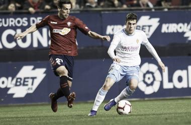 Soro en un momento del partido / Foto: Real Zaragoza