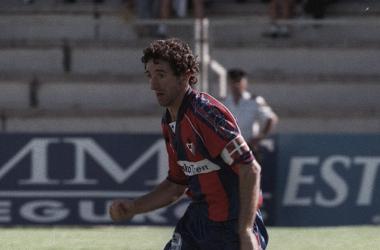 Óscar Artetxe, en su etapa como jugador armero. | Foto: SD Eibar