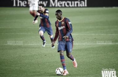 Dembélé, esta temporada en el Camp Nou. Foto: Noelia Déniz.