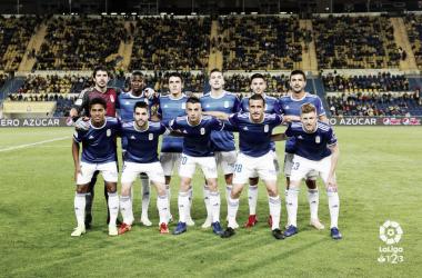 El once inicial que saltó al Estadio Gran Canaria | Imagen: Real Oviedo