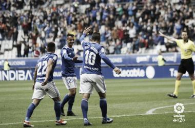 El Oviedo ocupa actualmente la novena posición / Foto: Laliga123