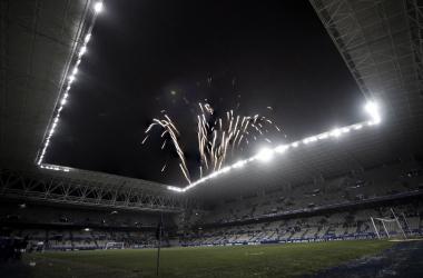 Fuegos artificiales por el 93 aniversario | Imagen: Real Oviedo
