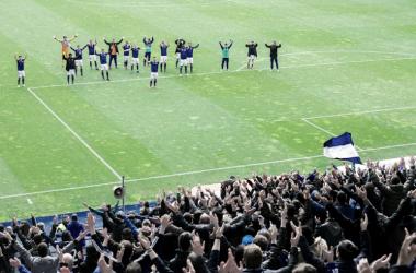 Haka final tras la victoria | Imagen: Real Oviedo