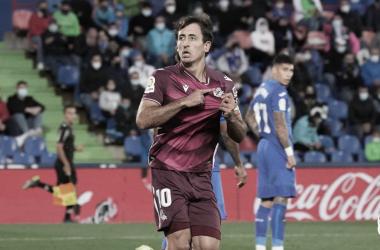 Oyarzabal celebra el gol realista. // Foto: Real Sociedad