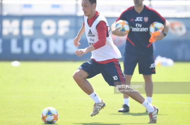 Mesut Ozil of Arsenal is put through his paces ahead of their first pre season game against Colorado Rapids