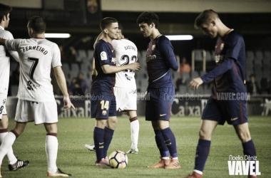 El FC Barcelona B no pudo sumar los tres puntos ante el Huesca   Foto: Noelia Déniz, VAVEL