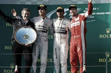 Foto do podio deste primeiro GP da temporada (Foto in Pirelli Press)