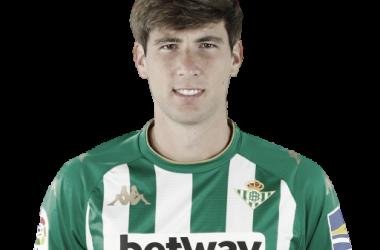 Juan Miranda con la camiseta verdiblanca (2020/21) | Foto: LaLiga