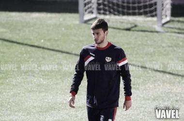 El juvenil Pablo Clavería en un entrenamiento del primer equipo (Imagen: Dani Mullor   VAVEL.com)