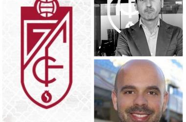 Pablo García Sampedro y Francisco Ceballos, nuevo director del área de Negocio del Granada CF y el nuevo responsable de Comunicación | Fotomontaje: Vavel /Imágenes: LinkedIn
