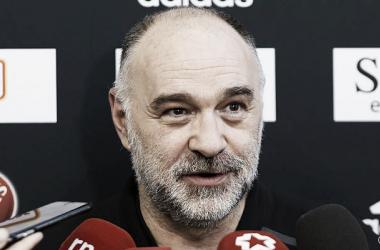 Pablo Laso en la rueda de prensa | Foto: RealMadrid.com