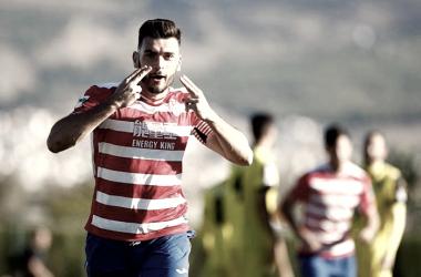 Pablo Vázquez celebrando su gol contra el CF Lorca Deportiva | Foto: Granada CF