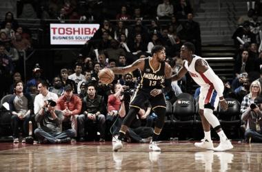 Paul George fue el arma clave en el ataque de los Pacers ayer por la noche. Foto: NBA