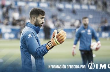 Pacheco se entrena con Sivera antes del partido frente al Madrid. / Foto: Deportivo Alavés