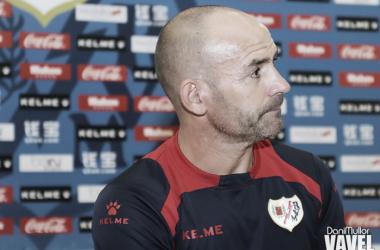 Paco Jémez durante una rueda de prensa | Fotografía: Dani Mullor