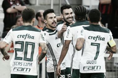 Melhor visitante do Brasil, Palmeiras despacha Atlético-PR na Arena da Baixada