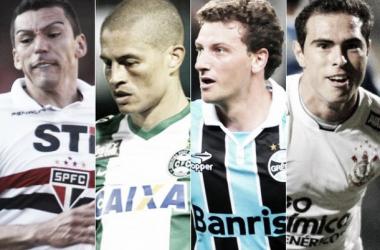 Lúcio, Alex, Elano e Bruno César são nomes fortes para contratações no Palmeiras (Foto: Reprodução/LANCE!Press)