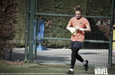 Imagen de archivo. Sandra Paños en un entrenamiento | Foto: Noelia Déniz - VAVEL