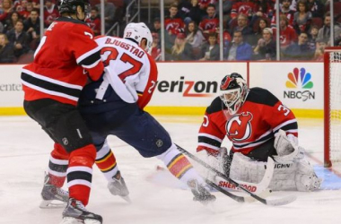 A game between the Florida Panthers and New Jersey Devils from last season (Ed Mulholland / USA TODAY Sports)
