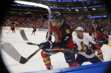 A scene from the Florida Panthers game last Monday against the Ottawa Senators. (Robert Mayer / USA TODAY Sports)